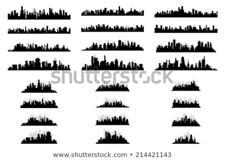 város · sziluett · szett · panoráma · sziluett · városi - stock fotó © nebojsa78