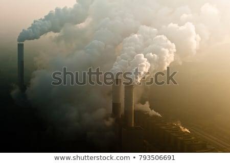 завода дым небе синий промышленности Сток-фото © FOKA