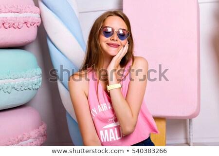 ízletes · szexi · fiatal · Oktoberfest · pincérnő · visel - stock fotó © arturkurjan