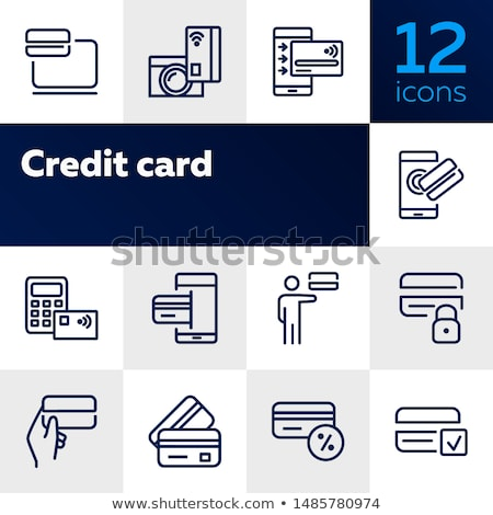 Vector icon credit card and lock stock photo © zzve