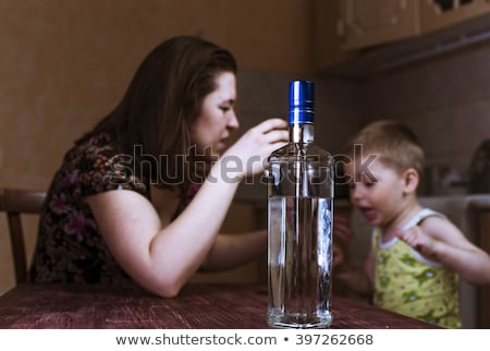 Problems between mother and her son. Family Problems. Focus on t Stock photo © dacasdo