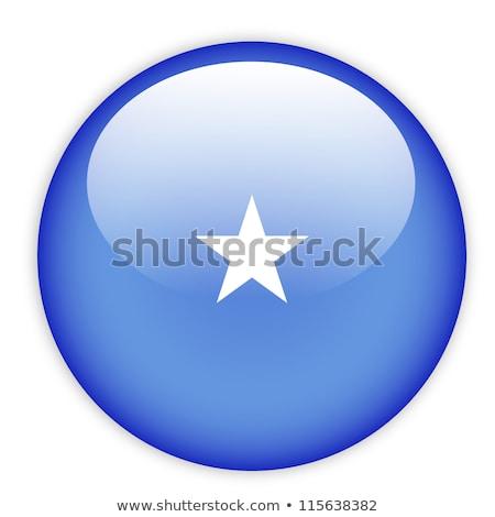 Przycisk Somali Pokaż banderą star Afryki Zdjęcia stock © Ustofre9
