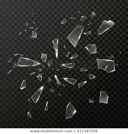 Kár vandalizmus darabok törött üveg fekete absztrakt Stock fotó © Arsgera