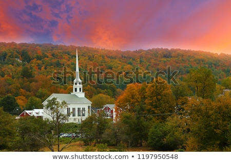 Overlooking Stowe Community Church in the autumn. Stock photo © DonLand