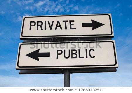 privacy roadsign stock photo © tashatuvango