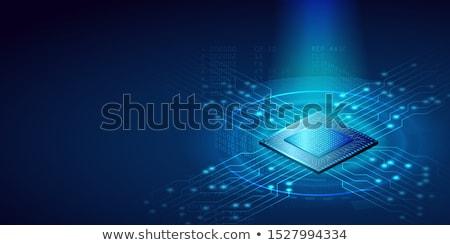 Mikrocsip bináris kód mozog központi technológia hálózat Stock fotó © idesign