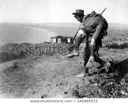 Soldier Carrying Wounded Comrade Stock photo © patrimonio