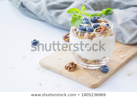 blueberry and yoghurt Stock photo © M-studio