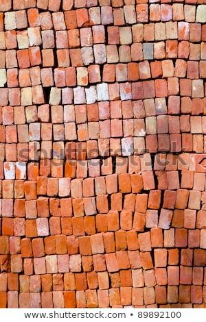 Rood bakstenen geven harmonisch patroon zon Stockfoto © meinzahn
