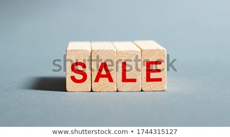 earn money in red white banner - letters and block Stock photo © marinini