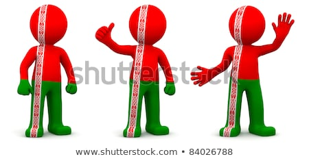 banner · Wit-Rusland · textuur · achtergrond · Rood · witte - stockfoto © kirill_m