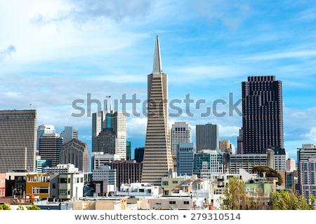 San Francisco pirámide horizonte vista cielo construcción Foto stock © weltreisendertj