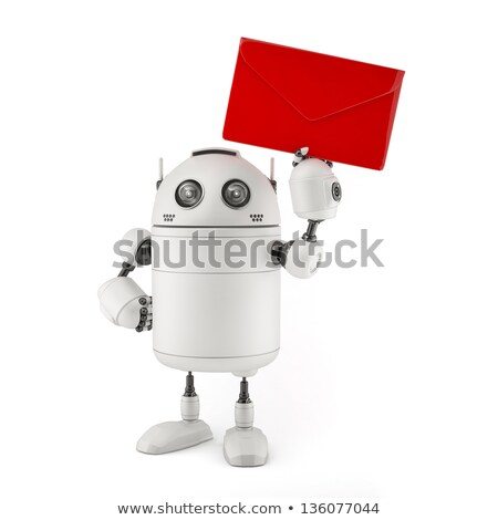 Robot wit red mail Stock photo © Kirill_M
