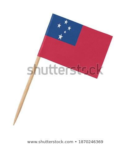Miniature Flag of Samoa stock photo © bosphorus