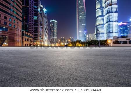Nocturna de la ciudad escena color movimiento borroso línea Foto stock © elwynn