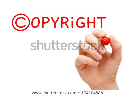copyright concept red marker stock photo © ivelin