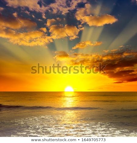 Trópusi menny tengerpart égbolt felhők természet Stock fotó © moses