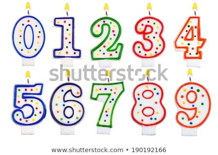 Burning birthday candle number 6 Stock photo © Zerbor