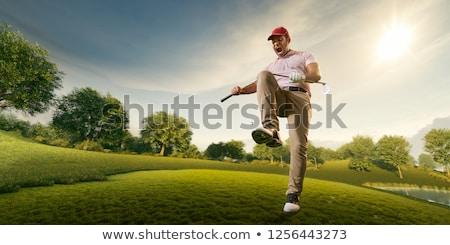 ゴルファー · ブレーク · 疲れ果てた · ツリー - ストックフォト © Reaktori