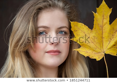 Glamorous portrait of young beautiful girl with big blue eyes, l Stock photo © vlad_star