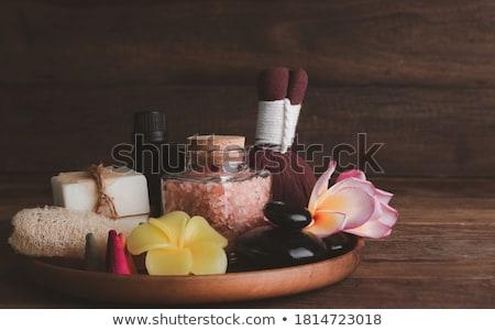herbal compress balls for spa treatment on white background Stock photo © nuiiko