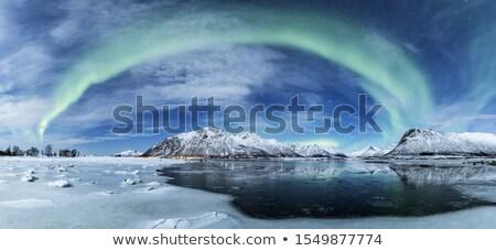 Stockfoto: IJsland · bergen · meer · rond · hemel · water