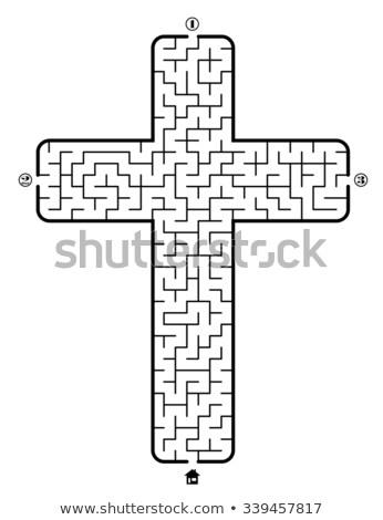 cross · labirinto · luce · Gesù · help · puzzle - foto d'archivio © Jumbo2010