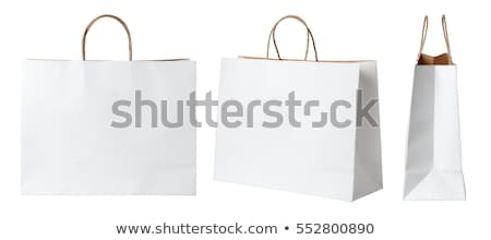 shopping bags isolated on the white stock photo © elnur