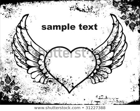 Romantica carta ornamento cuori campione testo Foto d'archivio © elenapro