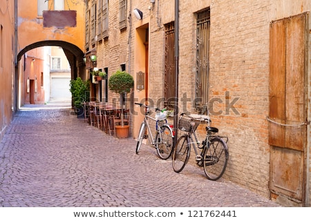 small street and wooden door Stock photo © Kayco