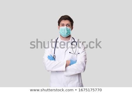 Masculino médico máscara cirúrgica africano médico do sexo masculino Foto stock © stockyimages