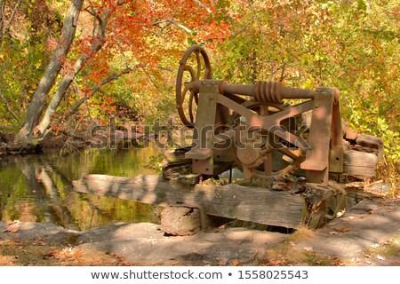 Zardzewiałe mechanizm opuszczony maszyny Zdjęcia stock © stryjek