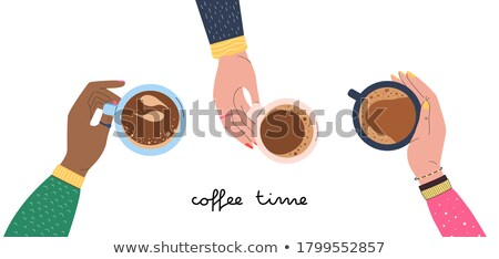 Coffee break time with hot caffe mocha Stock photo © punsayaporn