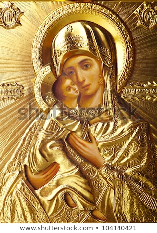 traditional orthodox icon of Mother Mary Stock photo © nessokv