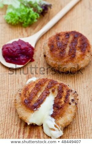 Iki camambert ekmek kırıntıları Stok fotoğraf © raphotos
