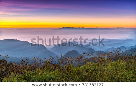 Viewpoint Doi Ang Khang mountains in Chiang Mai province of Thai Stock photo © Yongkiet
