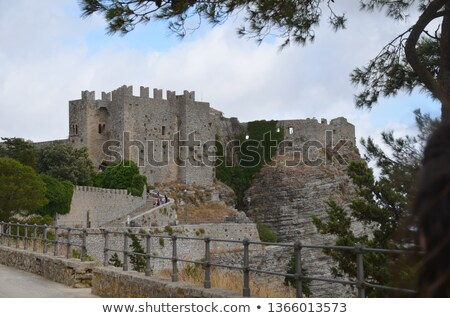 Abandoned castle in Erice Stock photo © Dserra1