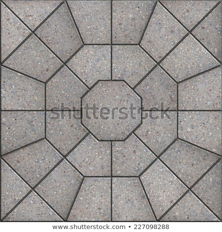 Gray Pavement Slabs  in the Form of Spiderweb. Stock photo © tashatuvango