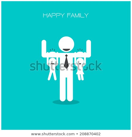 Happy family 's day  father, mother, son , girl idea design Stock photo © kiddaikiddee