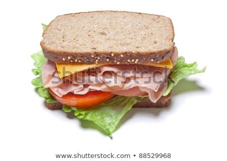 Isolated  Turkey Sandwich on Whole Grain Bread Stock photo © njnightsky