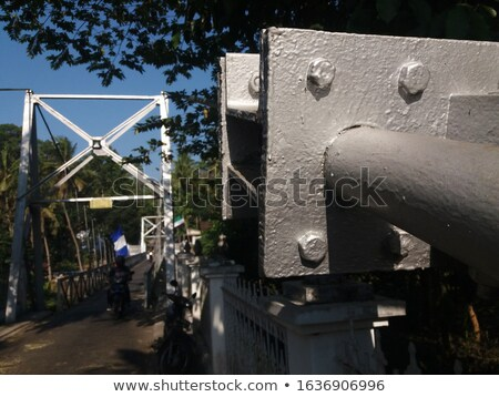 Kötél nyújtott acél keret sekély Stock fotó © ultrapro