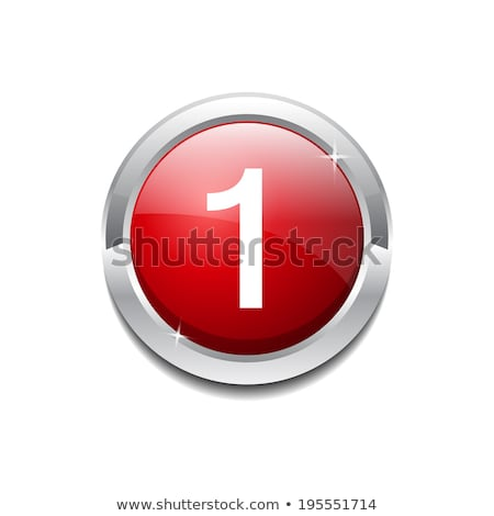 1 number circular vector red web icon button stock photo © rizwanali3d