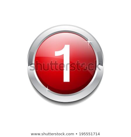 番号 ベクトル 赤 ウェブのアイコン ボタン ストックフォト © rizwanali3d
