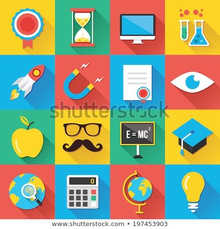 Teacher app icon with long shadow Stock photo © Anna_leni