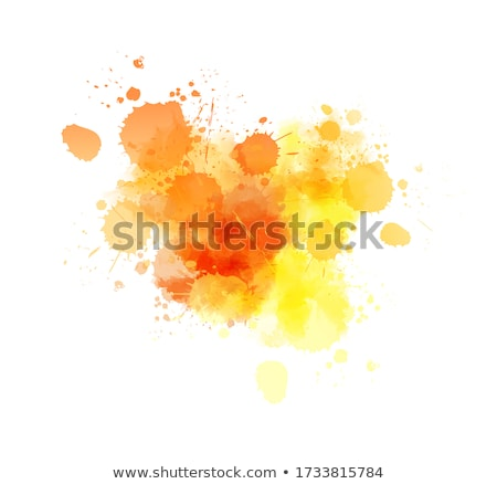 Abstract watercolor painted blot  Stock photo © kostins