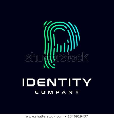 Fingerprint Alphabet Letter P Stock photo © PokerMan