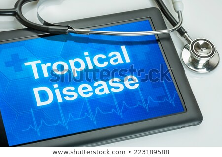 Tablet with the diagnosis Malaria on the display Stock photo © Zerbor