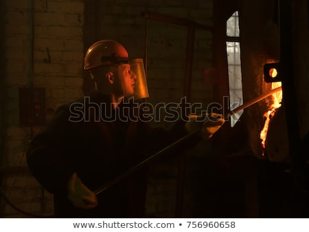 Clean Ladle of molten steel Stock photo © mady70