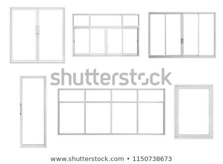 plastik · pencere · renk · yalıtılmış · beyaz · inşaat - stok fotoğraf © mr_vector