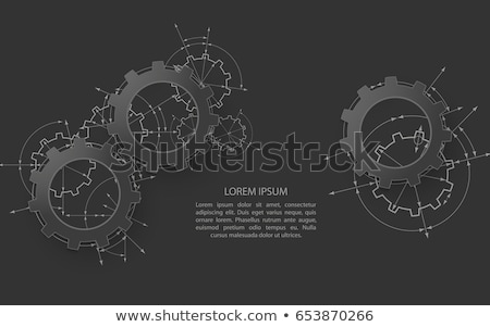 Machinery Industry on Metal Gears. Stock photo © tashatuvango